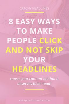 8 Easy Ways to Make People Click and Not Skip Your Headlines Blog Tips, Marketing Digital, Content Marketing, Business Marketing, Email Marketing, Business Branding, Make Money Blogging, How To Make Money, Earn Money