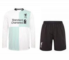 2017 Cheap Kit Liverpool FC LS Away Replica Suit [AFC374]