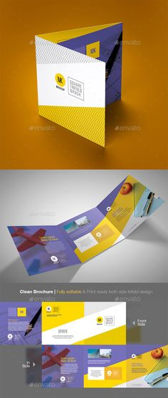 Square Trifold Brochure Template Vector EPS