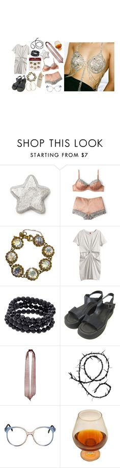 """""""Untitled #1708"""" by flapper-shoes ❤ liked on Polyvore featuring H&M, Apt. 9, Modern Vintage, Rodarte, Ann Demeulemeester and Pernille Corydon"""