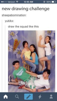 """fooexe: """" argda: """" Draw your OTP/squad challenges """" I'm doing all of these today just watch me """""""