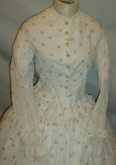 winsome 1860s 2 piece cotton floral4 | Flickr - Photo Sharing!