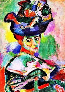 H. Matisse, Donna con cappello, 1905, olio su tela, Museo Ermitage San Pietroburgo.