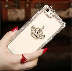 Glitter Crystal 3D Crown Mobile Phone Cases for iPhone 5 5s SE