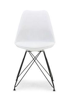 Paris spisebordsstol - Hvid