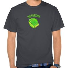 Guitar Distortion Pedal Green & Yellow   http://www.zazzle.com/TeeshirtsPlenty*