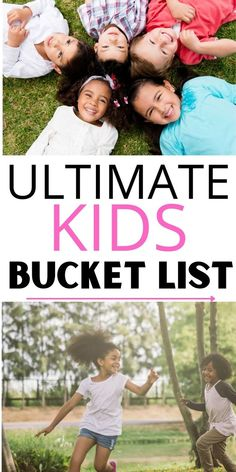 Kids bucket list! Here are 100 things for kids to do before they turn 12. This childhood bucket list is packed full of great memories and is the perfect bucket list for kids to make the most of every day. Bucket List 100, Summer Bucket Lists, Cheap Things To Do, Things To Do At Home, Fun Activities For Kids, Family Activities, Great Memories, More Fun, Good Times