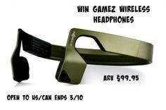 AfterShokz Gamez Wireless Headphones Giveaway - Ends 3/10