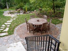 Salvaged Granite Cobble & Clay Paver Patio by Switzer's Nursery & Landscaping, via Flickr