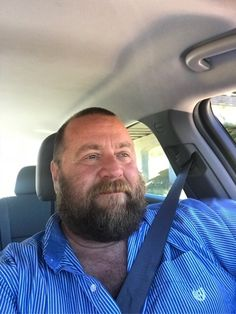 Big Guys, Cute Guys, Car Selfies, Awesome Beards, Daddy Bear, Moustaches, Big Bear, Male Face, Male Beauty