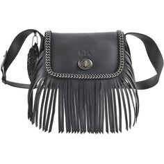 Coach Whipstitch Dakotah Fringe flap bag ($870) ❤ liked on Polyvore featuring bags, handbags, shoulder bags, coach crossbody, leather crossbody purses, fringe crossbody purse, leather crossbody and fringe purse