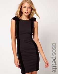 ASOS PETITE Exclusive Pencil Dress With Velvet Bows