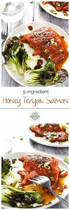 Honey Teriyaki Salmon | a quick and easy to make weeknight meal that everyone will love | theendlessmeal.com
