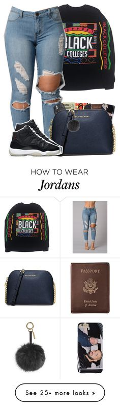 """""""Apr. 20th"""" by bryannilove on Polyvore featuring Royce Leather, Disney, Jack Spade, Christian Dior, Fuji, MICHAEL Michael Kors, NIKE and Fendi"""