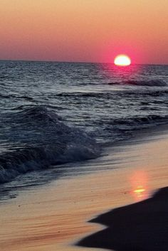 sunset at Gulf Shores Alabama in January