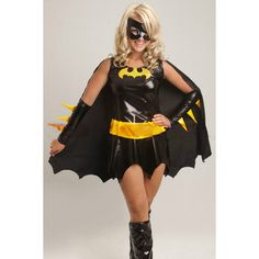 Black Chic Batman Halloween Superhero Costume for Womens ($23) ❤ liked on Polyvore featuring costumes, batman, black, superhero costumes, lady halloween costumes, super hero costumes, ladies superhero costumes and women super hero costumes
