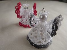 Tatted mini 3D angel pattern and tutorial Angel by AlenAleaDesign
