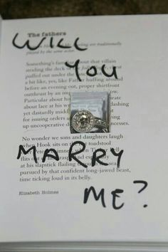 <3 Best proposal ever. I love reading books so this  a great idea.