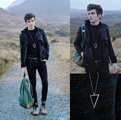 Doublju Jacket, Fashionology Necklace, Geox Shoes, Jack And Jones Backpack, Skinny Jeans, Topman Jumper