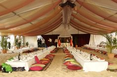 Arabian/ Morrocan theme. BrownSheerDraping and floor tables #PCSEvents #YourMiamiWedding #AMiamiPartyRental