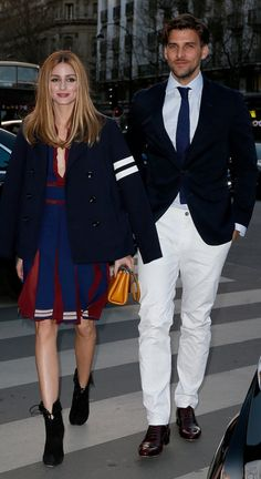 Olivia Palermo and Johannes Huebl at the Tommy Hilfiger Paris Opening