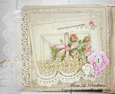 Hi there! It's Mona here to share a shabby mini album featuring a variety of beautiful papers from the Paris Flea Market collection. Many thanks for stopping by ~ I hope you enjoyed my projec…