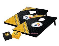 NFL Pittsburgh Steelers Tailgate Toss Bean Bag Game Set, Medium