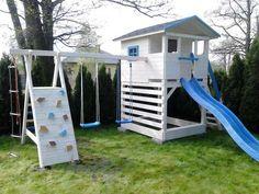 Plac zabaw z domkiem, domek dla dzieci zjeżdżalnia huśtawka Radomsko - image 2