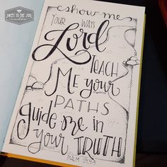 Sweet To The Soul Ministries - 30 Days of Bible Lettering July - Psalm Scripture Doodle, Scripture Lettering, Scripture Art, Bible Art, Bible Scriptures, Bible Quotes, Bible Drawing, Bible Doodling, Bible Journaling For Beginners