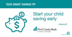 "My kids had FCB accounts set up in elementary school so they learned to ""pay themselves first"" so saving was routine!"