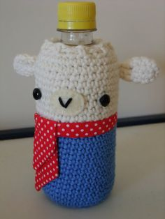 How to make a water bottle cosy.  (scroll down the pattern is on the page)