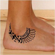 Tribal Foot Tattoos, Tribal Tattoos With Meaning, Tribal Tattoos For Women, Anklet Tattoos, Foot Tattoos For Women, Leg Tattoos, Sleeve Tattoos, Turtle Tattoos, Armband Tattoo