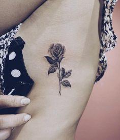Blackwork Rose Tattoo by Nando
