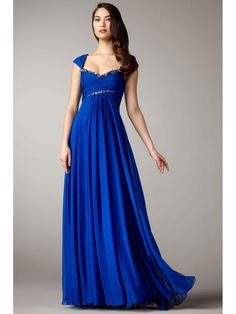 Long Blue Affordable Chiffon Evening / Prom / Formal Dresses Maternity Evening Dresses 99901011