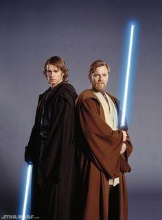 Obi-Wan Kenobi's and Anakin Skywalker's Lightsabers-Star Wars