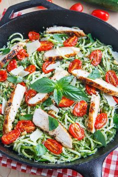 салат, листья, зелень, лапша, италия, курица, еда, помидор