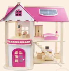 Pink Doll, Loft, Dolls, Etsy, Bed, House, Furniture, Home Decor, Little Cottages