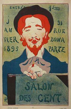Rene Hermann-Paul, Exhibition Poster, France, 1895