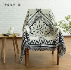 Country-Vintage-Boho-Ethnic-GeometricTapestry-Throw-Rug-Blanket-Sofa-Bed-Cover-E