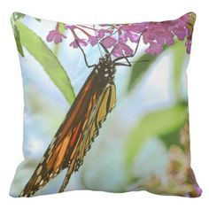 Monarch Butterfly Outdoor Pillow - home gifts ideas decor special unique custom individual customized individualized