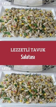 Delicious Chicken Salad recipes - Chicken Recipes - Yemek Tarifleri - Resimli ve Videolu Yemek Tarifleri Best Salad Recipes, Healthy Chicken Recipes, Pasta Recipes, Dinner Recipes, Cooking Recipes, Chopped Salad, Ground Beef Recipes, Chicken Salad, Meat Recipes