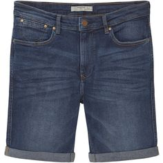 Dark Denim Bermuda Shorts ($32) ❤ liked on Polyvore featuring shorts, denim bermuda shorts, zipper shorts, denim shorts, bermuda shorts and dark denim shorts