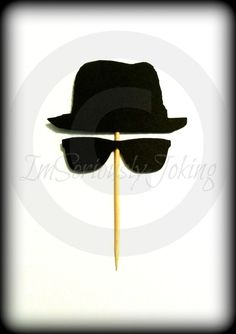 8295e4001d9 Blues Bros Cupcake Toppers- The Artist- Little Man Party- Sunglasses- Blues  Brothers- Cupcake decorations- Mustache party