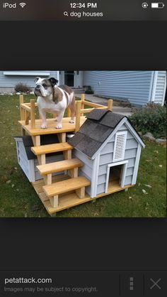 23 Ideas For Diy Dog Kennel Furniture Animals Build A Dog House, Dog House Plans, Small Dog House, Rideaux Design, Diy Dog Kennel, Dog Kennels, Cool Dog Houses, Niches, Dog Furniture