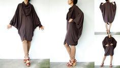 NO.57 Brown Viscose Oversize Sweater With Infinity by JoozieCotton