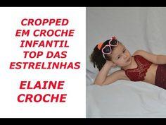 CROPPED EM CROCHÊ INFANTIL - TOP DAS ESTRELINHAS - YouTube