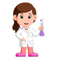 Scientist Kid Flask Vector Images (over