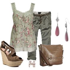 """green summer"" by fluffof5 on Polyvore"