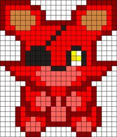 Foxy Plush Perler Bead Pattern / Bead Sprite