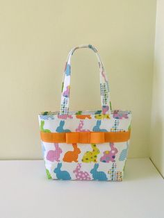Pastel Rainbow Bunny Purse by SweetPeaPurseCompany on Etsy, $26.00, Easter purse, Easter basket, little girls purse